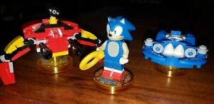 Lego Dimensions Sonic Level Pack pre-owned - minifig, Sonic Speedster & Tornado