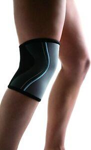 Rehband Womens Line Knee Support Grey & Black