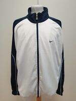 S54 MENS NIKE WHITE BLUE FULL ZIP TRACKSUIT JACKET UK XXL EU 58