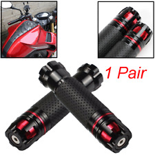 """22mm Black&Red Rotatable CNC Aluminum Hand Grip for 7/8"""" Motorcycle Handlebar X2"""