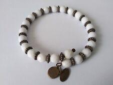 VINTAGE Alex and Ani White Beaded Women's Wrap Bracelet