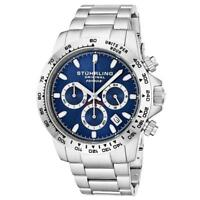 Stuhrling 891 03 Formulai Quartz Chronograph Stainless Steel Date Mens Watch