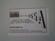 advertising Pubblicità 1982 MOTO OSSA 250 TRIAL
