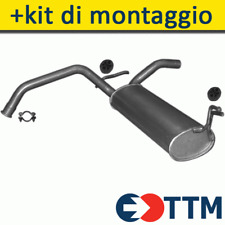 TOYOTA AYGO HATCHBACK 1.0 69HP 2005- Silenziatore Marmitta Posteriore+