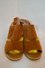 Footglove Womens Brown Suede Wedge Sandals Size UK 7.5