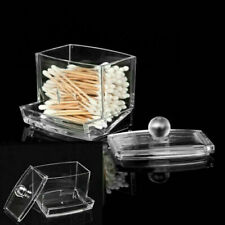 Household Acrylic Q-tip Holder Cotton Swab Stick Box Cosmetic Storage Case