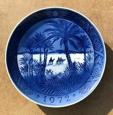 "Vintage Royal Copenhagen 7"" Christmas Plate 1972 In the Desert Kai Lang Nice!"