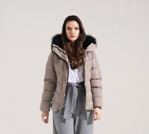 Charcoal Fashion Women's Mid Stone Quilted Winter Puffer Jacket (02W20 ORCHID)