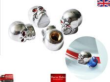 Cráneo alien Aleación Válvula De Rueda Neumático Neumático de Coche casquillos de polvo cubre Neumático Conjunto de 4 Reino Unido
