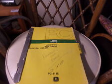 John Deere 3020 Tractor Parts Catalog / Manual S/N 123,000 - , Pc1115