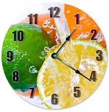 "10.5"" LEMON AND LIME CLOCK - Large 10.5"" Wall Clock - Home Décor Clock - 3229"