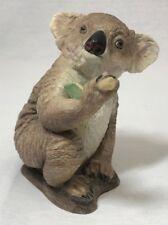"Boehm Porcelain Figurine - Koala holding bamboo shoot - 5"" tall"