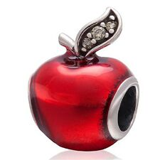 Fairytale Red Apple Charm Bead Fits all European Charm Bracelets UK Seller