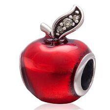Fairytale Red Apple Charm Bead Fits all European Charm Bracelets UK Seller