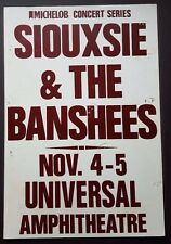 SIOUXSIE & THE BANSHEES Vintage Concert Poster '88 Post PunK JOY DIVISION Goth