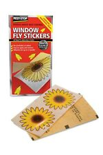 PEST-STOP WINDOW FLY STICKERS (Pack 4) - Powerful Adhesive Lasts 3 Months - Safe
