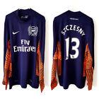 Arsenal Szczesny Goalkeeper Shirt 2011. Small Adults. Original Nike. Blue Top S.