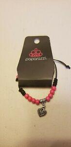 Little Girls Jewelry (new) Bracelet PINK CORDED BRACELET W/ HEART