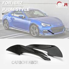 For Subaru BRZ Toyota FT86 Carbon Fiber PJDM Style Front Bumper Canard Kits 2Pcs