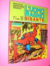 RACCOLTA SUPER EROI GIGANTE Corno 1981 n. 7  UOMO RAGNO ETERNI