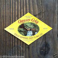 10 Vintage Original Diamond Shaped QUEEN COLA SODA Bottle Label 1905 NOS Unused