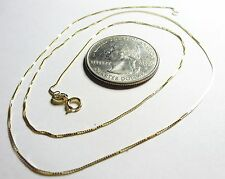 10Kt Pure Solid Gold 18 inch small 45MM BOX Chain, Gift Box.....100% Guaranteed!
