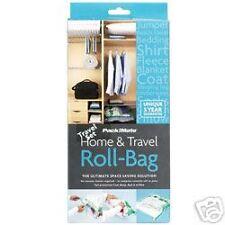 2 Medium 1 Large Travel Roll Storage Bags Space Saving Airtight Reusable Waterp