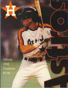 1992 Houston Astros Yearbook - Luis Gonzalez Cover