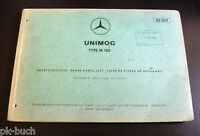 Parts Catalog Mercedes Benz Unimog Type M 180 Stand 04-1966
