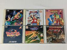 Lot of 6 NEC PC Engine CD-ROM JAPAN Cases Manuals - Gradius 2 Fatal Fury Special