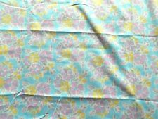 Vintage 60's / 70's Light Weight Cotton Dress Making Fabric Floral Pastel