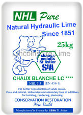 Natural Hydraulic Lime For Mortar NHL 3.5 (25Kg) St Astier Hydraulic Lime