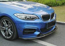 For BMW F22 Front Bumper Canard Splitter Fins EXOT Style Carbon Fiber