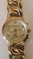 Michael Kors MK3131 Armbanduhr für Damen Gold super Zustand neue Baterie