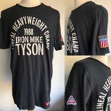 IRON MIKE TYSON 1988 Lineal Heavyweight Champ USA Roots of Fight T-Shirt Large