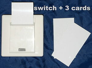 Clipsal E2031EKT Key Card Controlled Switch & 3 KeyCards, 16A, as used in hotels