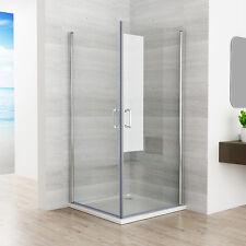 90 x 90 cm Duschkabine Duschwand 180° Eckeinstieg Schwingtür Dusche NANO 195cm Z
