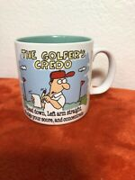 "Vintage Papel The Golfers Credo Jim Benton Ceramic Coffee Mug Cup Golf 3.5"" G2-5"