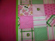 Handmade Standard Size Pillow Case - Springtime Pink John Deere
