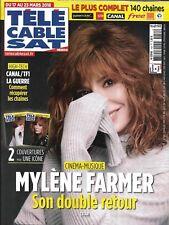 TELECABLE SAT HEBDO n°1454 17/03/2018  Mylène Farmer/ Law & Order/ JC Carrière
