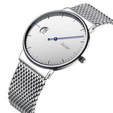 BIDEN Men Boy Date Waterproof Quartz Stainless Steel Mesh Band Wrist Watch Gifts