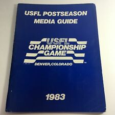 VTG USFL Kickoff Official Post Season Media Guide 1983 - USFL Championship Game