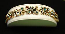 """$310 STUNNING Patricia Locke 7 5"""" Bracelet Gold Tne NEST Swarovski Crystals NWOT"""