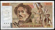 DELACROIX  ; 100 Francs, émis en 1982  ; alpha:N.61  ;  FAY# 69/6 ./ L247b