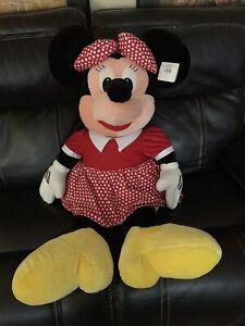 "Classic Minnie Mouse 40"" JUMBO Plush Extra Large Stuffed Animal Walt Disney"