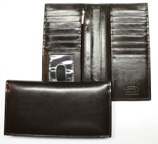 Pocket Secretary Style Credit Card Wallet - Dark Brown Leather- New