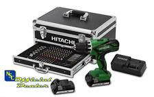 HITACHI DV18DJL Avvitatore a Percussione 18V Litio 2 Batterie e 100 Accessori