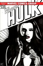 The Incredible Hulk #181 Blank Variant with original Spider-Woman painted sketch