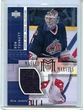 2002-03 UPPER DECK MASK COLLECTION RON TUGNUTT MASKED MARVELS GAME WORN JERSEY