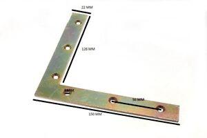 Équerre Plate de Coin 150mm X 22mm X 2.7mm 5mm Trou Yzp Paquet De 8